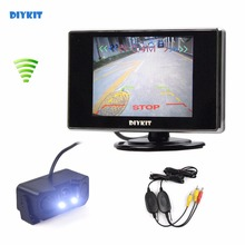 DIYKIT Wi-fi three.5 inch TFT LCD Automotive Monitor + Waterproof Parking Radar Sensor Reversing Automotive Digital camera Parking Help System