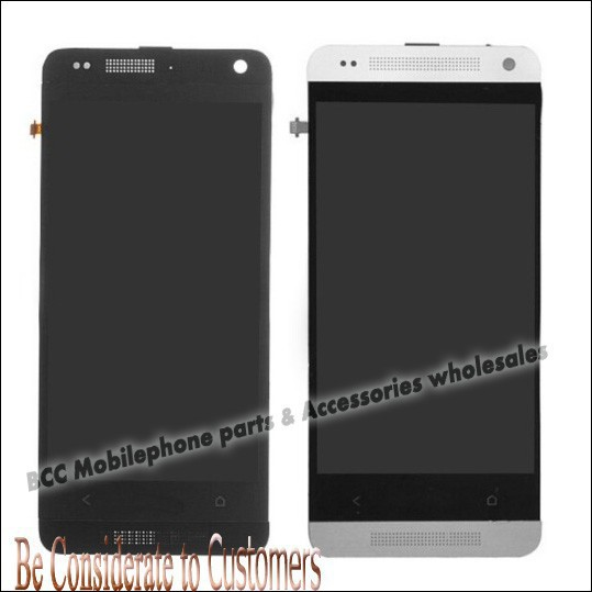 ФОТО Original LCD Display+touch screen digitizer touchscreen panel+frame for HTC One Mini M4 601e 601n 601s Completely Black/ White