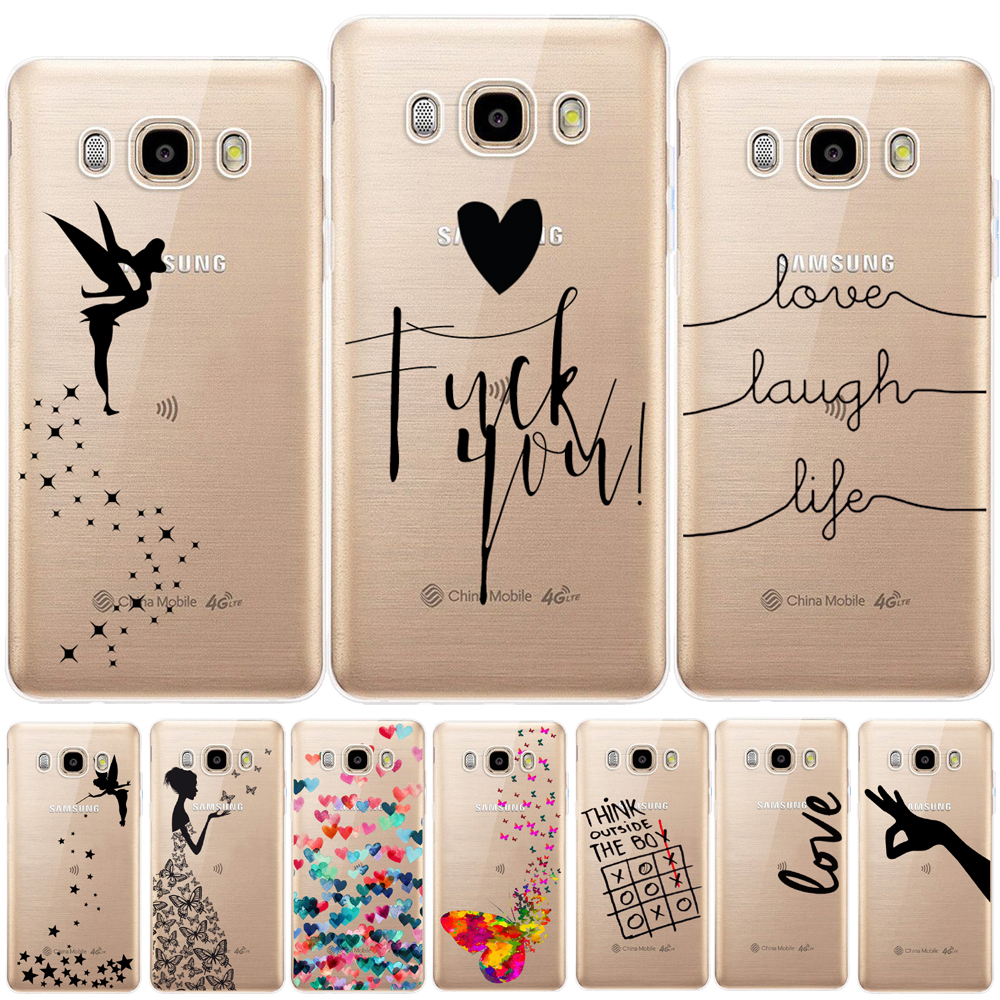 Love Laugh Life Soft TPU Cover For <font><b>Samsung</b></font> <font><b>Galaxy</b></font> J3 <font><b>J5</b></font> J7 <font><b>2015</b></font> 2016 2017 J2 Pro J3 J7 J8 J4 J6 2018 J2 <font><b>J5</b></font> Prime Tinkerbell <font><b>Case</b></font> image