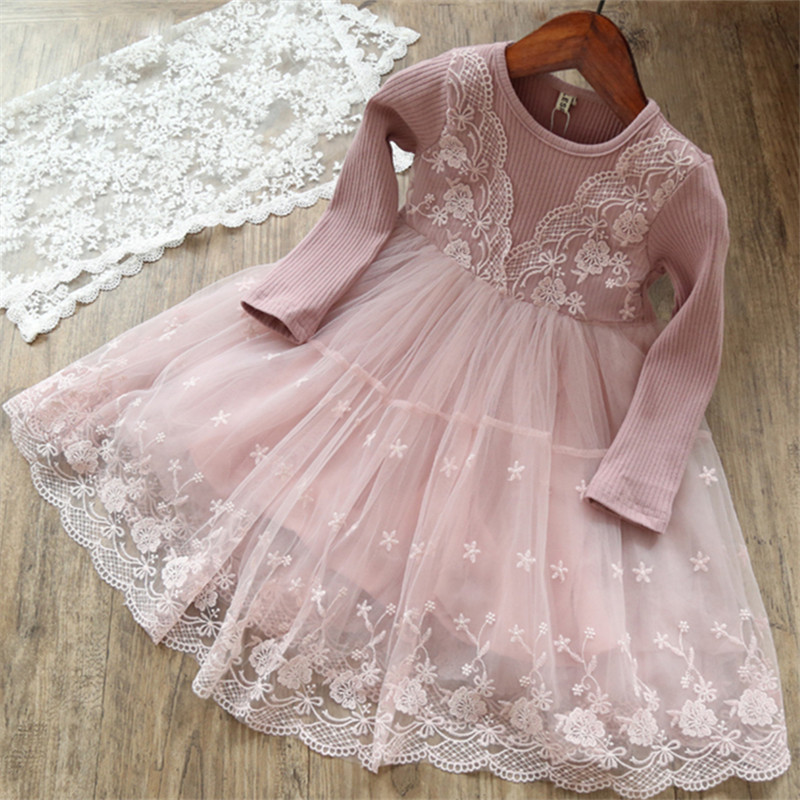 Summer Kids Clothes Baby Girl Lace Dress Children Clothing Princess Dress For Girl Party Wear Flower Girl Baby Causal Outfits