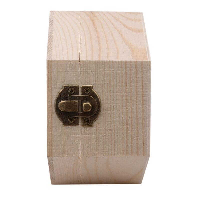 Wooden Hexagonal Shaped Storage Box Jewelry Box Wedding Gifts Favors Box Holder