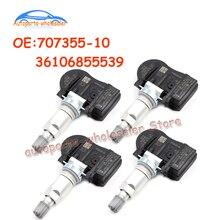 4 PCS 707355-10 36106855539 For BMW Car TPMS Tire Pressure Sensor Monitor 433Mhz 70735510 707355 10 36106881890 36106856209