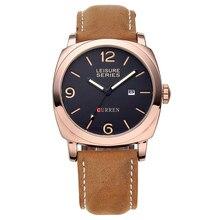 Original CURREN Top Brand Men Sport Luminous Quartz Watch Waterproof Leather Watches Male Wristwatches relogio masculino 8158