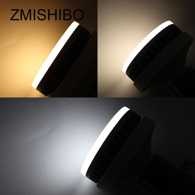 Купить с кэшбэком ZMISHIBO High Quality GX53 LED Bulb 110-220V 8W 850lm Aluminum Housing 3000/4000/6000K Natural White Milk PC Cover Living Room