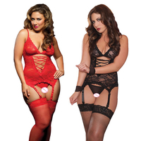 New Sexy Lingerie Hot Sexy Baby Dolls Women Dress Erotic Lingerie Sleepwear Clothing Black Red Babydolls