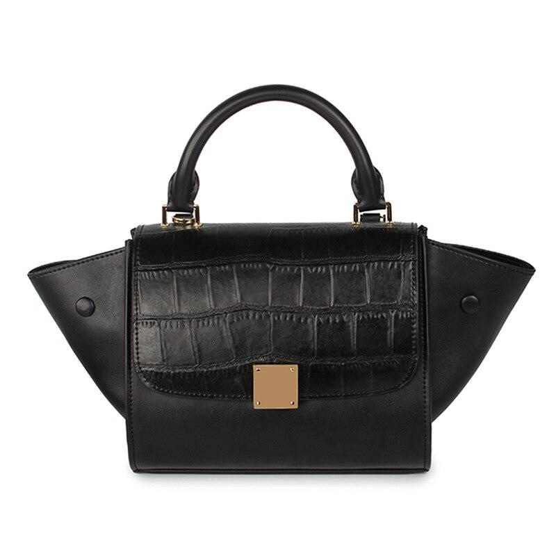Genuine leather luxury font b handbags b font women bags designer 2016 small shoulder womens black