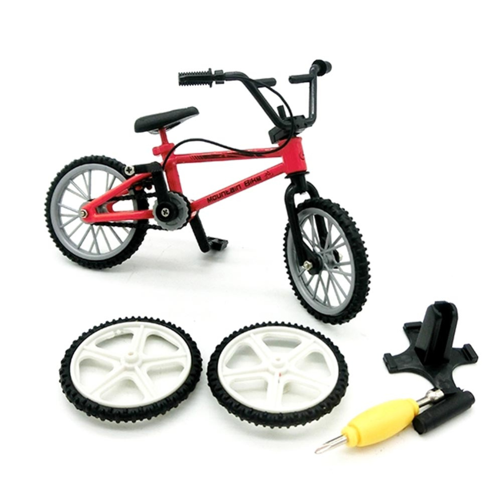 1 PC Alloy Mini Finger Mountain Bikes BMX Fixie Bicycle Boy Toy Creative Game Gift Color ...