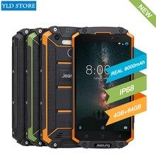 ФОТО jeasung p9000 max 4gb 64gb ip68 waterproof shockproof 4g smartphone 5.5