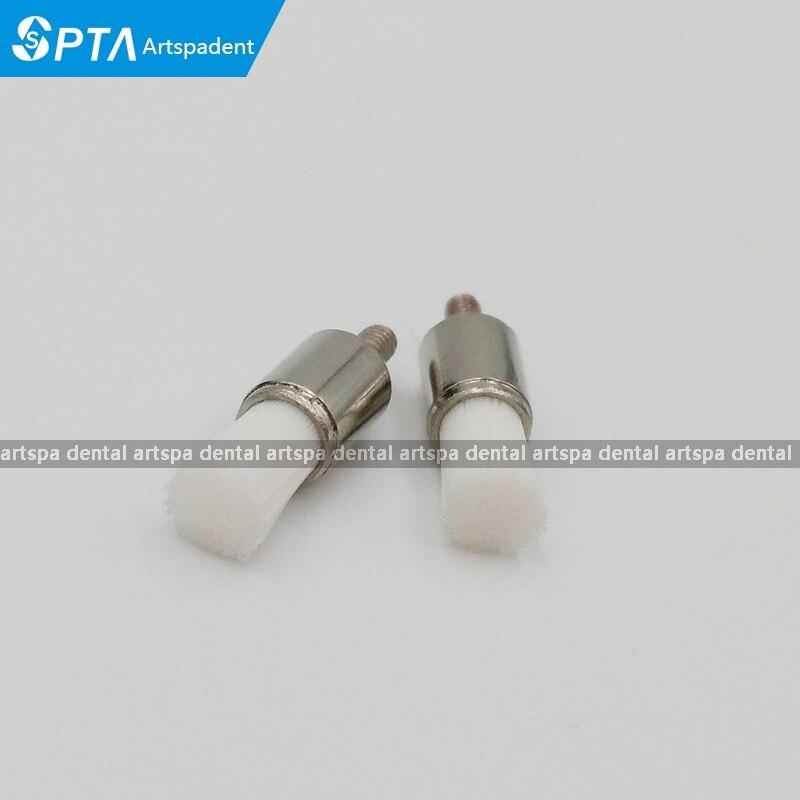 US $22 6  100pcs/Box High quality Professional Dental lab screw type  Polishing Products Nylon latch flat Polisher Brush Prophy Brushes-in Teeth
