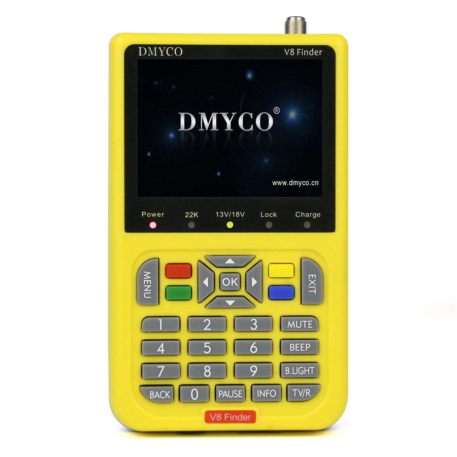 [Genuine] Satellite Finder DMYCO V8 Finder Meter DVB-S/S2 With 3.5 Inch LCD Digital Satfinder Satlink Pk Ws 6906 V8 Finder