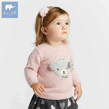 DB8435 dave bella autumn knitted sweater infant baby girls long sleeve pullover kids toddler tops children knitted sweater - DISCOUNT ITEM  50% OFF All Category