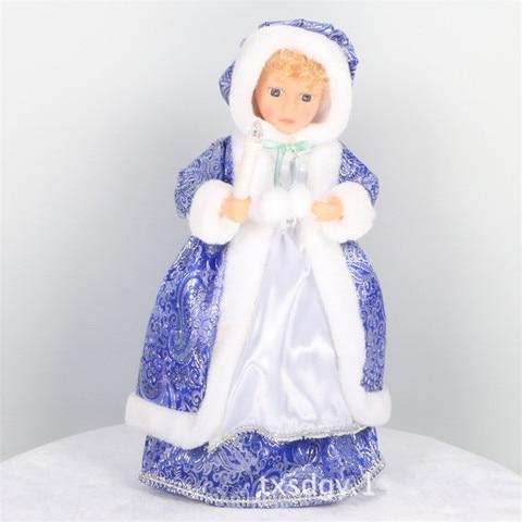 versao russa neve maiden papai noel boneca falando brinquedos eletrica musical natal boneca decoracoes presentes