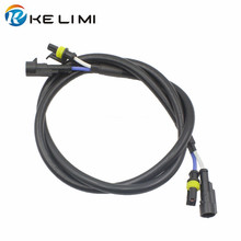 цена на HID xenon Extension high voltage wire cable wiring 1M ballast HID xenon ballast bulb extension wire , Free shipping !