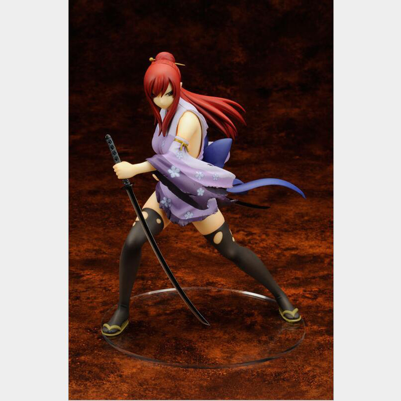 Fairy Tail action figure Erza Scarlet kimono version anime model figurine collection decoration with box toy gifts T7137 цены