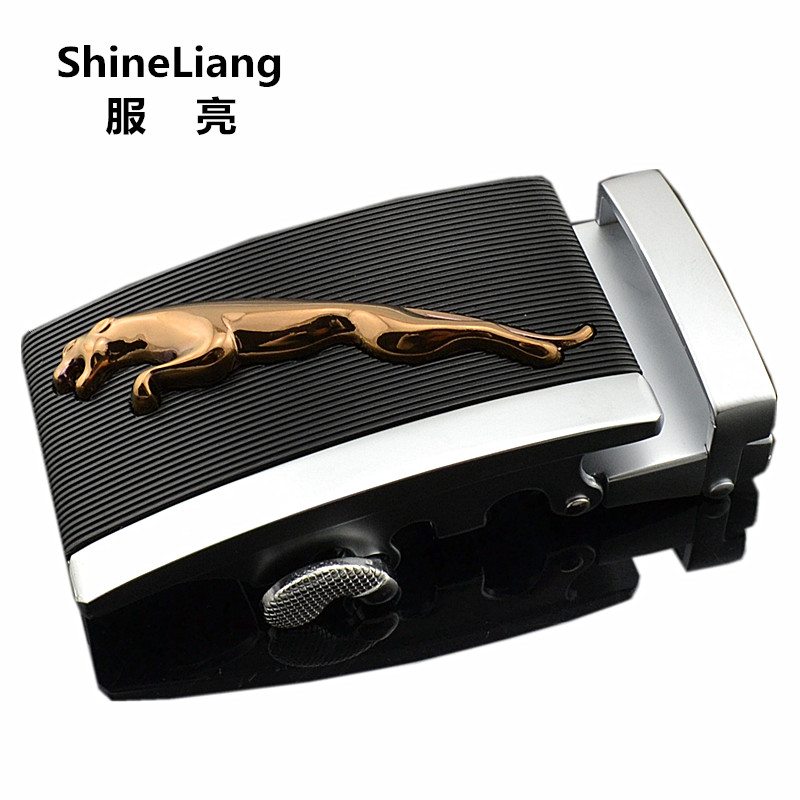 Shineliang Automatic Belts Alloy Buckle for men Suitable Leather width 3.5cm Designers High quality Fashion male Brand luxury