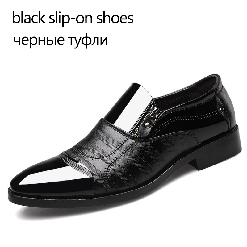 REETENE Fashion Business Dress Men Shoes 2019 New Classic Leather Men'S Suits Shoes Fashion Slip On Dress Shoes Men Oxfords 5