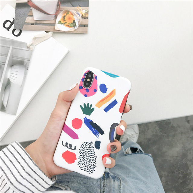 Colorful Lovely Graffiti Cartoon TPU Soft Case For iPhone 2