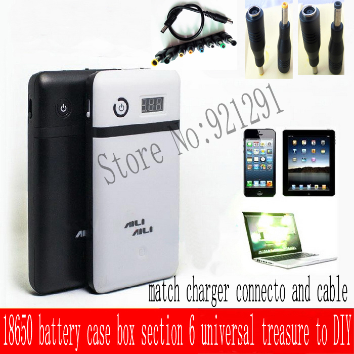 цена 5V/9V/12V/19V/21V output mobile note book power bank box 18650 battery box section 6 universal treasure DIYVoltage Regulators