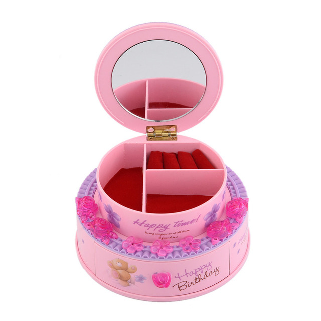 1 Pcs Happy Birthday Cake Music Box Girlfriend Gift Ideas Toy Carousel Boxes Mechanism For Sale Free Shipping