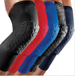Hot Knee Pad Strong Honeycomb Crashproof BasketBall Protective Gear Long Leg Sleeves Knee Pads