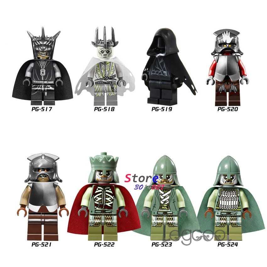 1 pçs modelo blocos de construção senhor dos anéis boca de sauron wraith uruk hai mordor orc rei dos brinquedos mortos para crianças presente