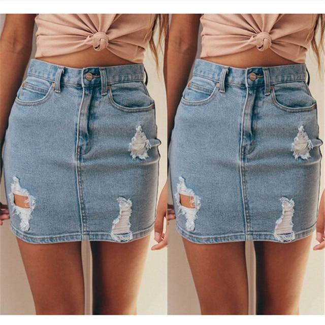 Seems magnificent denim mini skirt