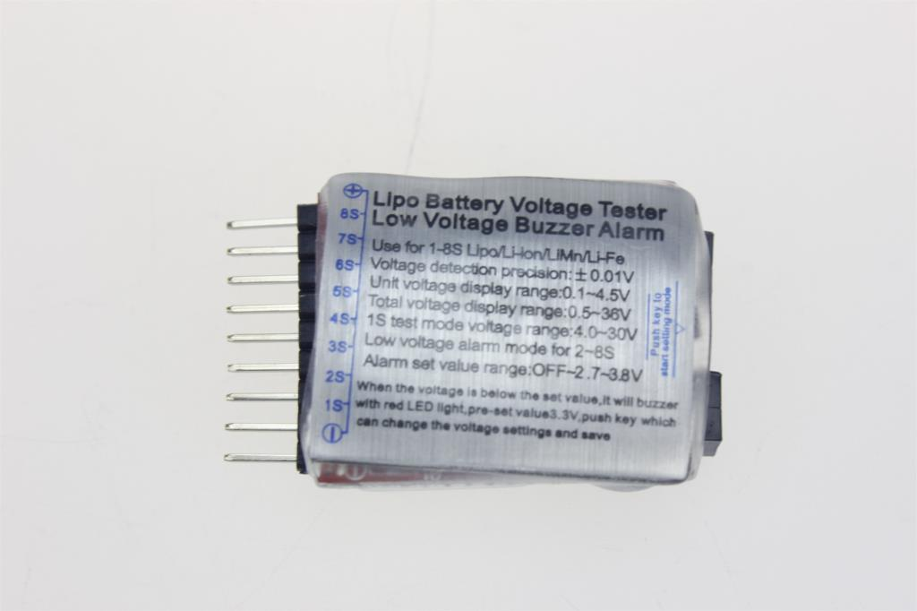 F00872 Low Voltage Buzzer Alarm Volt Meter Indicator Checker Dual Speaker 1-8S Lipo/Li-ion/Fe Battery 2 in 1 Tester 2S 3S 4S 8S