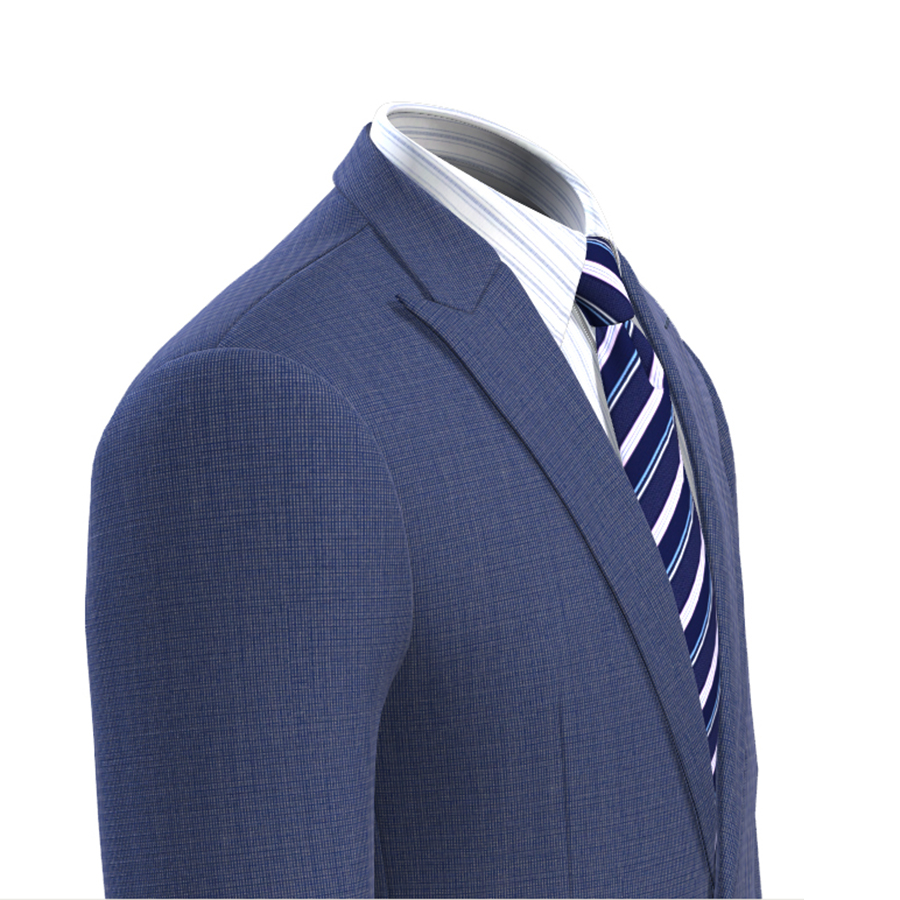 Men Suit Jacket Blue Slim Fit Custom Made Blue Nailhead Men Blazer Jacket Veste Homme Costume Luxe Blaser Masculino in Suit Jackets from Men 39 s Clothing