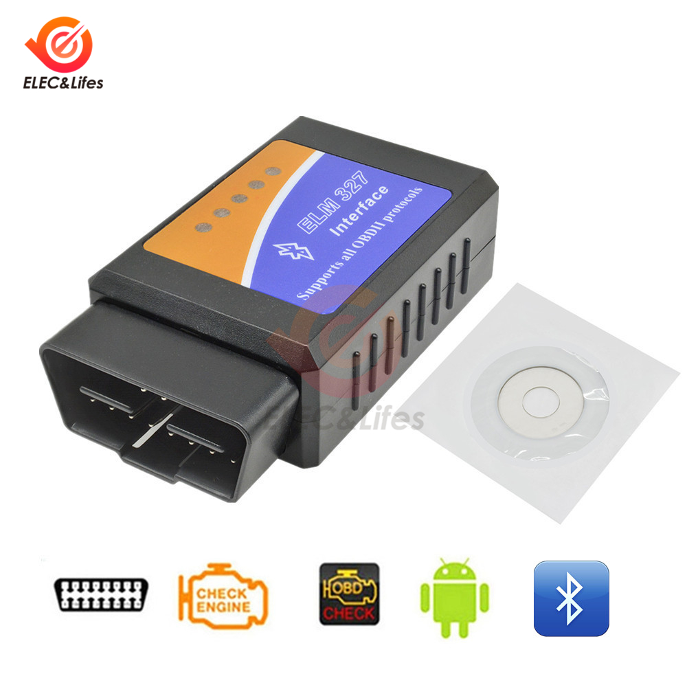 Image 2 - ELM327 V1.5 V2.1 OBD2 OBDII Bluetooth Auto Diagnostic scanner 12V Car motorcycle Code Reader OBD2 adapter 16Pin Extension Cable-in Instrument Parts & Accessories from Tools