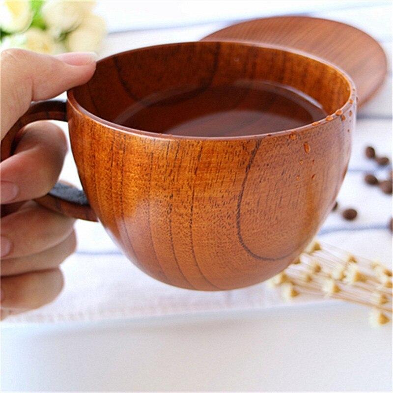Retro Zizyphus Jujube Copa primitiva hecho a mano madera Natural café té cerveza vino jugo leche taza de agua regalo de Navidad