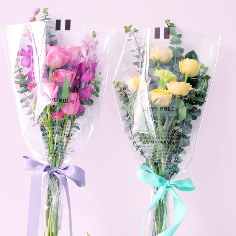 50 Fashion Flower Bouquet Wrapping Paper Plastic Cello Clear Florist S Wrap We Flowers Home Decor