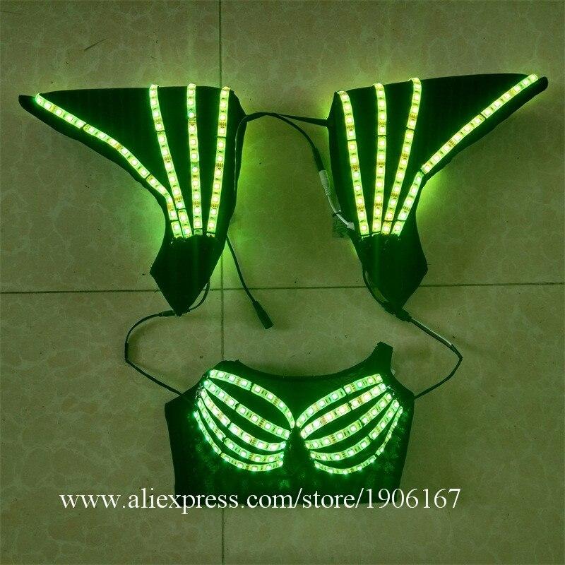 Hochwertige bunte LED-Kostüme können 7 Farben LED-BH mit - Partyartikel und Dekoration - Foto 6