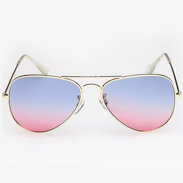 b95ef9a10098e 2016 Verão Clássico Rosa Óculos de Aviador Óculos De Sol Das Mulheres  Gradiente Óculos de Sol