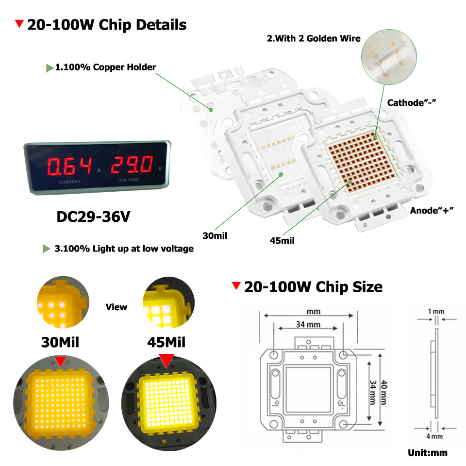 High Power Led Wiring Diagram Library Relay Toggle Switch Eeweb Community Umaked Cob Diode Full 100w Chip 30mil Genesis Photonics Light Smd Chips Warm