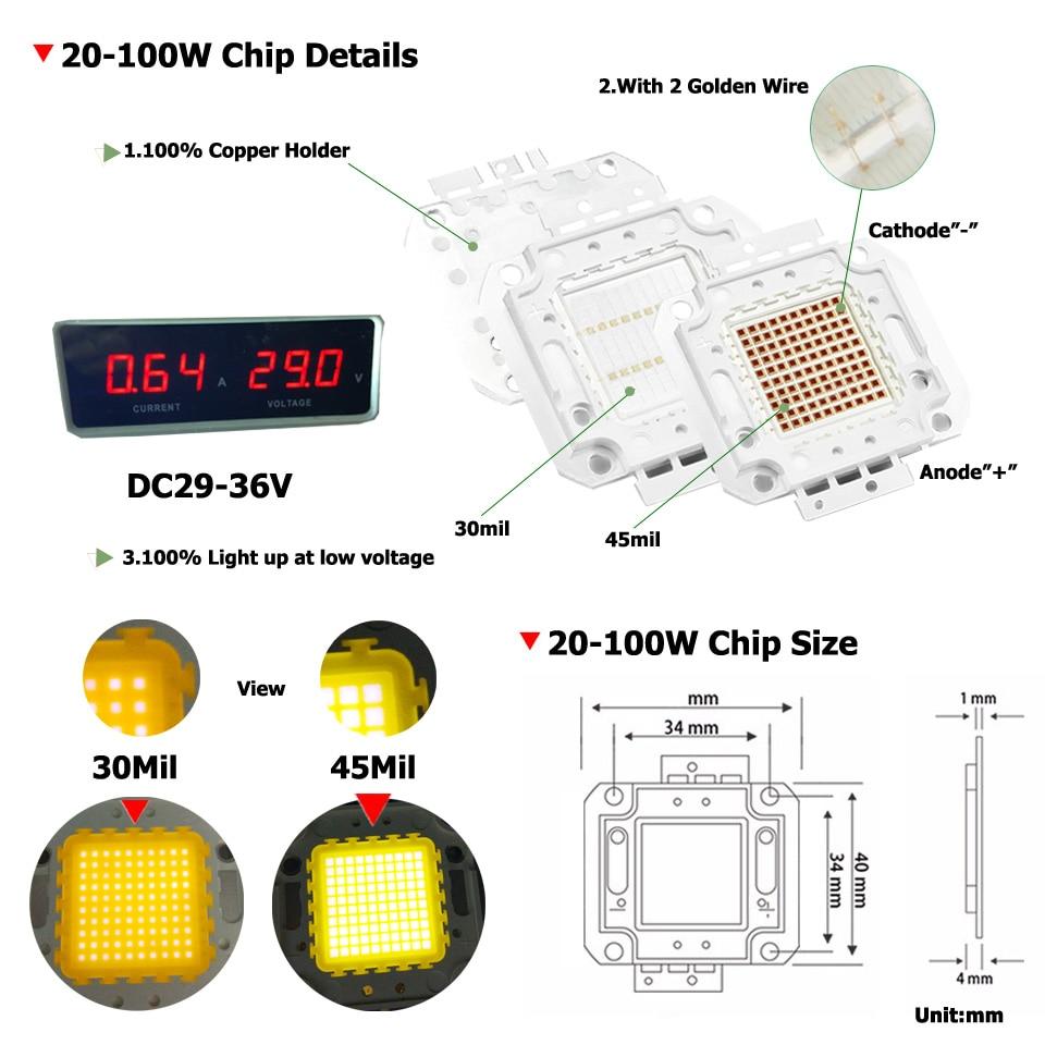 Umaked высокое Мощность удара диода полный 100 Вт светодиодный чип 30mil Genesis photonics свет SMD чипов теплый/белый/ круто для светодиодные лампы Открыты...