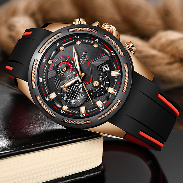 LIGE New Mens Watches Top Luxury Brand Men Unique Sports Watch  3
