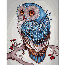 WEEN Lucky Owl-DIY Painting By Numbers Modern Hand-painted Oil Wall Art Picture Drop Shipping Paint 40x50cm