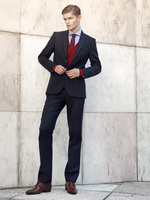 Wholesale custom classic black button the groom dress slim healthy men suit brand name mens coat(jacket + pants + vest, tie)