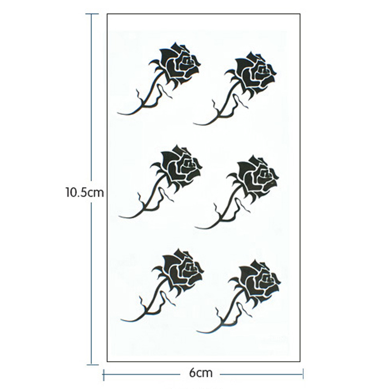 Aliexpress.com : Buy 1pcs Small Black and White Tattoos Stickers ...