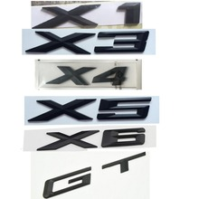 Black ABS Number Letters Word Car Trunk Badge Emblem Letter Decal Sticker for BMW X5