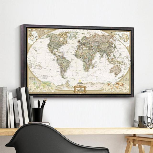Retro Style World Map Wall Poster