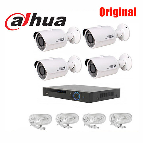 Original dahua  HD-CVI 720P IR Bullet Camera-30fps 4CH HD 720p DIY Security CVR System Kit KIT-5104 free shipping экшн камера ridian bullet hd pro 4