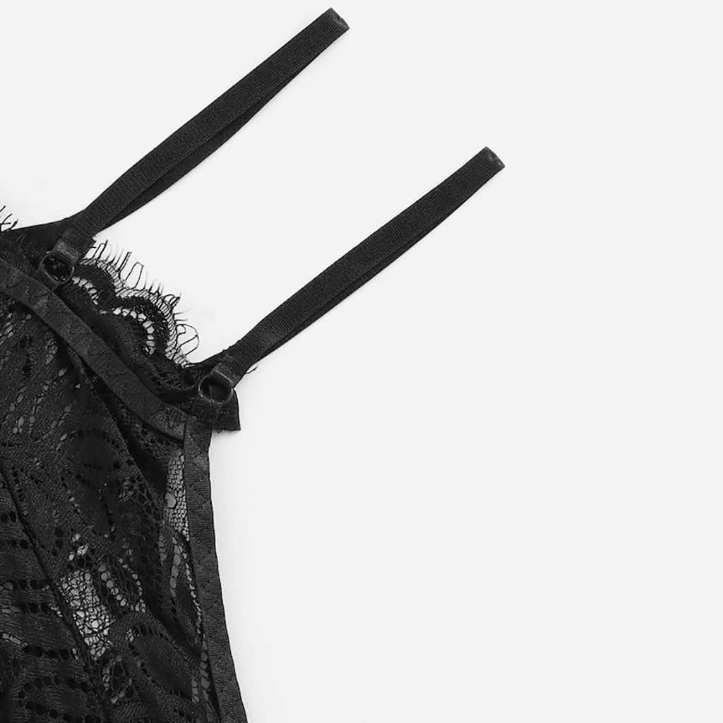 פורנו סקסי הלבשה תחתונה בתוספת גודל משי V-צוואר תחרה סאטן Cami למעלה עם מכנסיים פיג 'מה סקסית תחתוני תחתוני Babydoll לנשים d3