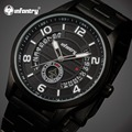 INFANTRY Men Watches Day Date Analog Display Luminous Military Wrist Watches Full Steel Sports Quartz Watch Relogio Masculino