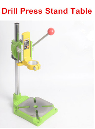 Electric power Drill Press Stand for Drill Workbench Repair Tool Clamp for Drilling Collet Table 35&43mm 0-90 degrees electric power drill press stand table for drill workbench repair tool clamp for drilling collet table 35