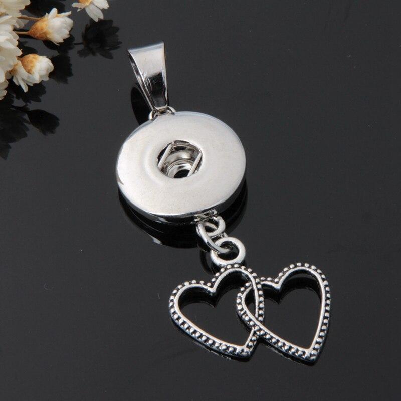 Лидер продаж xl5001-xl5009 просто прекрасная сердца Мама Любовь цепи оснастки ожерелье 50 см Fit 18 мм кнопки модные оснастки ювелирные изделия