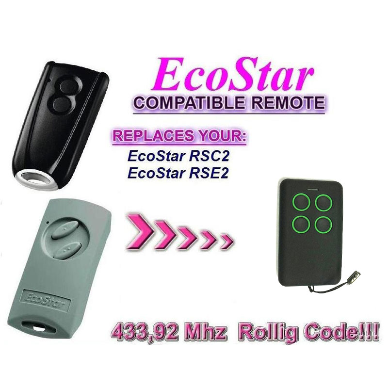 Hormann Ecostar RSE2 RSC2 Handsender 433Mhz rolling code compatible remote free shipping free shipping dc12v 433mhz metal