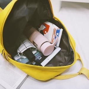 Image 5 - Sac à dos en toile jaune pour femmes, sac de voyage de grande capacité pour adolescentes, mignon, à la mode, nouvelle collection