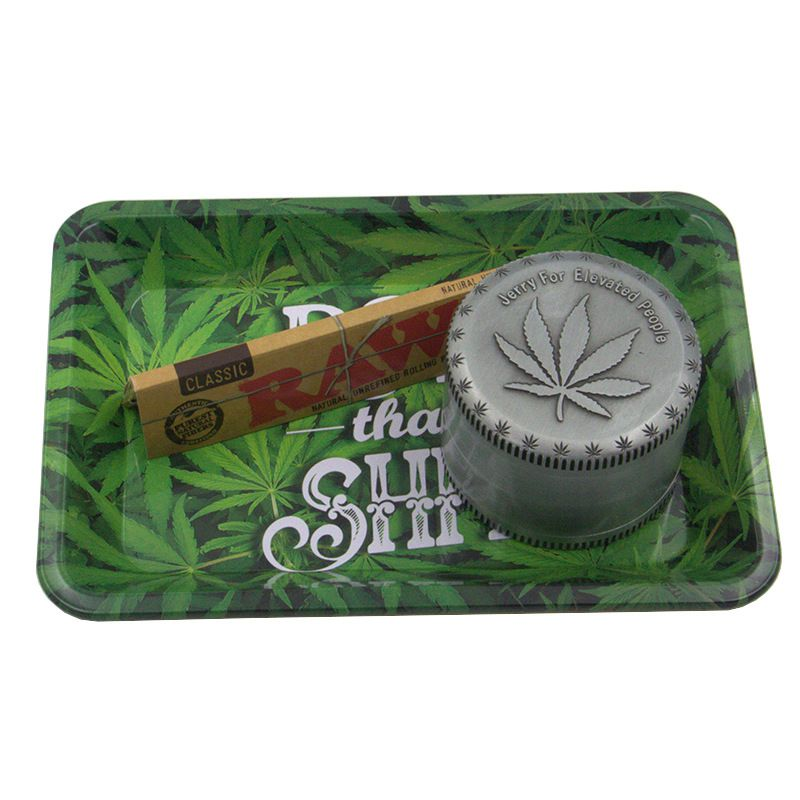 Weed Accessories Metal Tobacco Rolling Tray Storage Plate Discs For Smoke Bob Marley Herb Grinder Weed Cigarette Holder Smoking