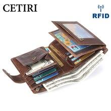 CETIRI Rfid الذكية محفظة الائتمان حامل بطاقة معدنية رقيقة ضئيلة الرجال محفظة تمرير سر السحر المنبثقة محفظة صغيرة أسود محفظة نسائية للعملات المعدنية